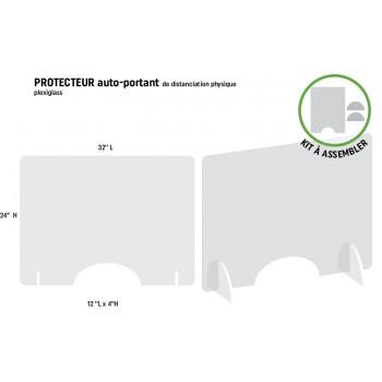 Protecteur horizontal 32'' L  x 24'' H