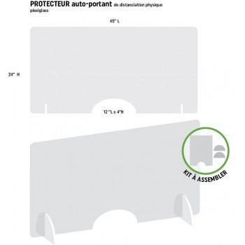 Protecteur horizontal  45'' L  x 24'' H