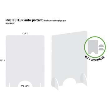 Protecteur vertical 24'' L  x 32'' H